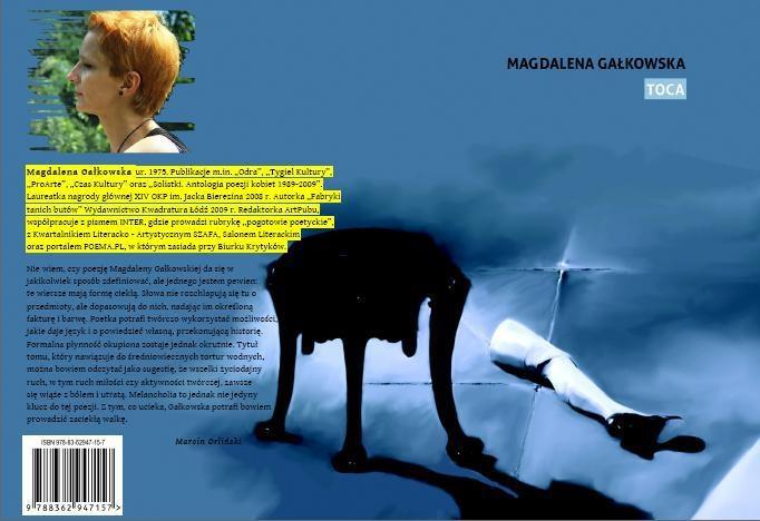 Toca Magdy Gałkowskiej, wydawca Zeszyty Poetyckie